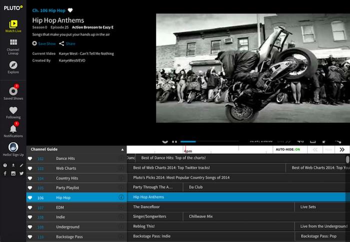 pluto tv channels