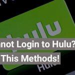 cannot login to hulu