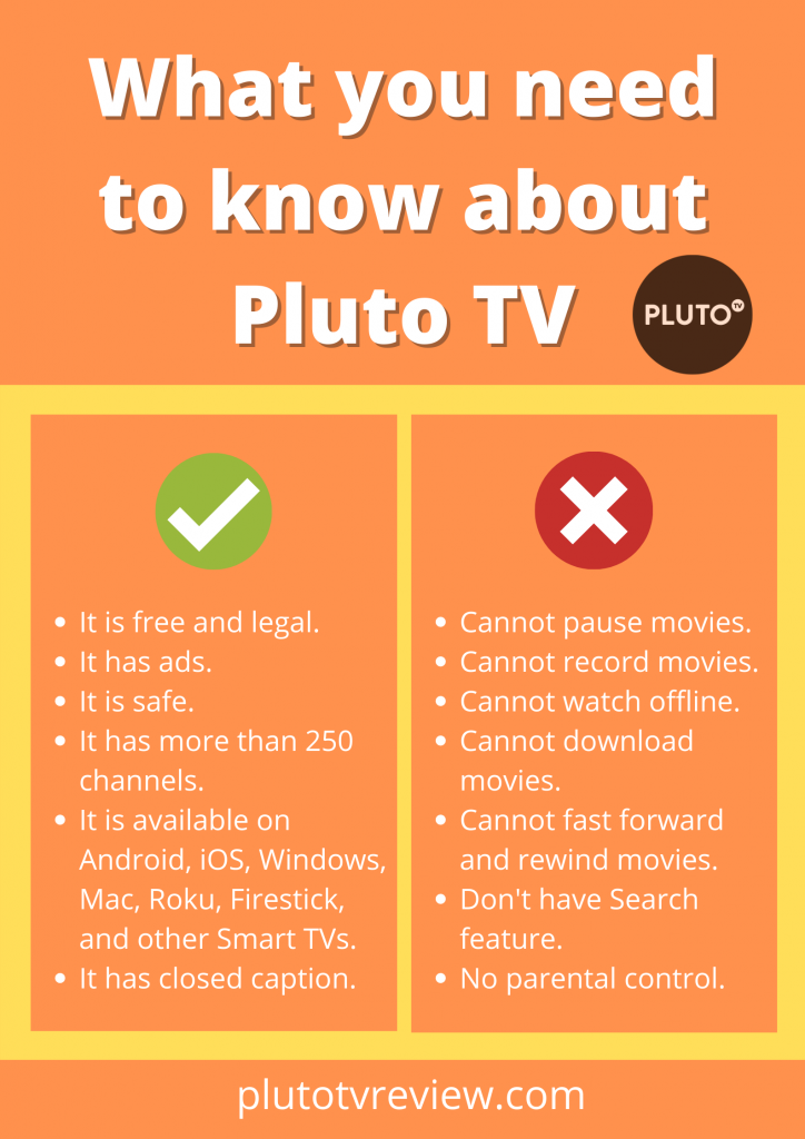What can pluto TV do
