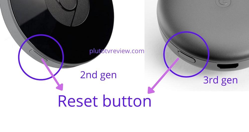 reset button chromecast 2nd & 3rd gen